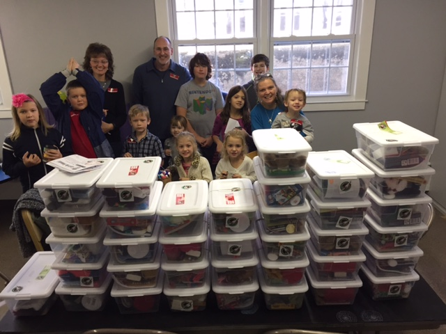 Each year we pack shoeboxes for Samaritan's Purse Operation Christmas Child.