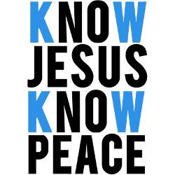 know_jesus_know_peace_bumper_bumper_sticker